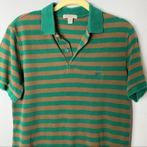 Stripped Burberry Blouse Polo Rare Colors Small